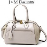 J&M DAVIDSON ミニボストンSMALL EVANGELINE LEATHER